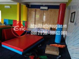 Thi công phòng Gym tại trường MN Quốc Tê INschool ở Long Thành