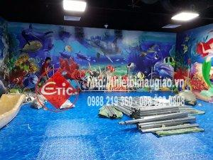 Tiến độ thi công khu vui chơi trong nhà tại Vincom Hà Tĩnh