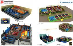 Thiết kế khu vui chơi trong nhà HT-8266A - Kích thước 2000x1420x450cm